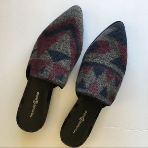 Treasure & Bond Wool Loafers Mules SZ 8M